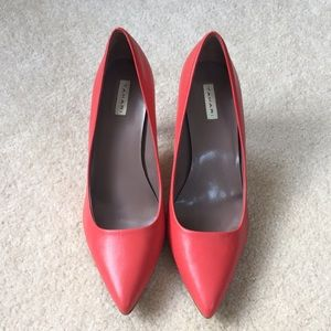 Coral Pointed Toe Heels